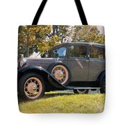 1931 Ford Sedan On Hill At Greenfield Village In Dearborn Michigan Tote Bag