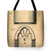 1931 Philco Radio Patent Tote Bag