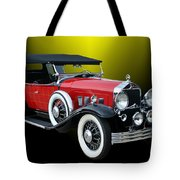 1931 Willys Knight Plaid Side Tote Bag
