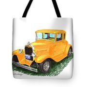 1931 Yellow Ford Coupe Tote Bag by Jack Pumphrey
