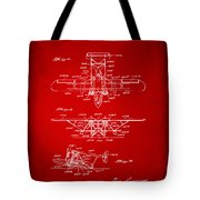 1932 Amphibian Aircraft Patent Red Tote Bag