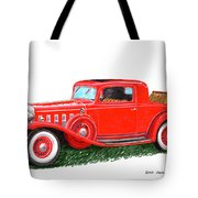 1932 Cadillac Rumbleseat Coupe Tote Bag