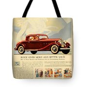1933 - Buick Coupe Advertisement - Color Tote Bag