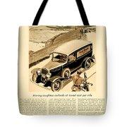 1933 - Chevrolet Commercial Automobile Advertisement - Old Gold Cigarettes - Color Tote Bag