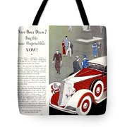 1933 - Hupmobile Sedan Automobile Advertisement - Color Tote Bag