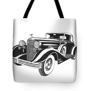 Cadillac Victoria V 16 Convertible Tote Bag