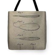 1933 Fish Lure Patent Tote Bag