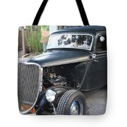 1933 Ford Two Door Sedan Front And Side View Tote Bag