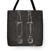 1934 Beer Bottle Patent Artwork - Gray Tote Bag