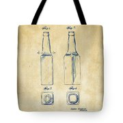 1934 Beer Bottle Patent Artwork - Vintage Tote Bag
