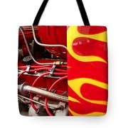 Hot Rod Art Work And Engine Tote Bag