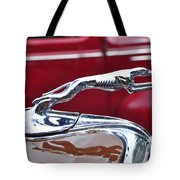 1934 Ford 6 Wheel Equip Hood Ornament Tote Bag