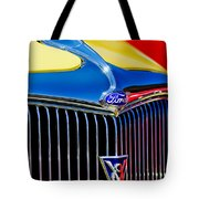 1934 Ford Deluxe Coupe Grille Emblems Tote Bag