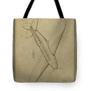 1934 Mail Plane Patent Tote Bag