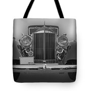 1934 Packard Black And White Tote Bag