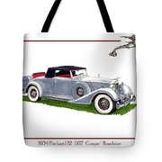 1934 Packard Twelve 1107 Coupe Tote Bag