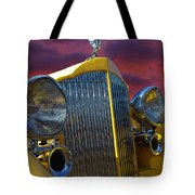 1934 Packard With Posterized Edge Texture Tote Bag