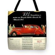 1935 - Nash Aeroform Automobile Advertisement - Color Tote Bag