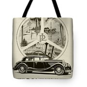 1935 - Panhard Panoramique French Automobile Advertisement Tote Bag