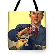 1935 - Soviet Union Anti Alcohol Propaganda Poster - Color Tote Bag