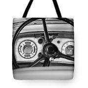 1935 Auburn 851 Supercharged Boattail Speedster Steering Wheel -0862bw Tote Bag