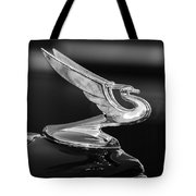 1935 Chevrolet Sedan Hood Ornament -479bw Tote Bag