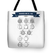 1935 India Rubber Ball Patent Drawing - Retro Navy Blue Tote Bag