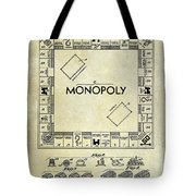 1935 Monopoly Patent Drawing Tote Bag