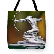 1935 Pierce-arrow 845 Coupe Hood Ornament Tote Bag by Jill Reger