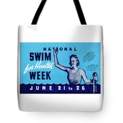 1935 Swim For Health Poster Tote Bag