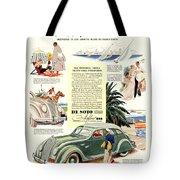 1936 - De Soto Airflow IIi Automobile Advertisement - Color Tote Bag