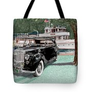 Bentley Waving To Malibu Tote Bag