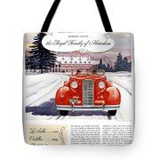 1936 - Lasalle Convertible Automobile Advertisement - Color Tote Bag
