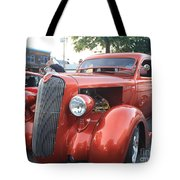 1936 Plymouth Two Door Sedan Front And Side View Tote Bag