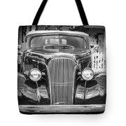 1937 Chevrolet Custom Convertible Bw Tote Bag