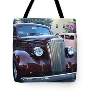 1937 Chevy Two Door Sedan Front And Side View Tote Bag