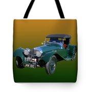 1937 Jaguar S S Onehundred  Tote Bag