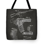 1937 Police Remington Model 8 Magazine Patent Artwork - Gray Tote Bag