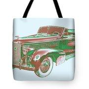 1938 Cadillac Lasalle Antique Pop Art Tote Bag