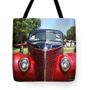 1938 Ford Two Door Sedan Front View Tote Bag
