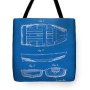 1938 Rowboat Patent Artwork - Blueprint Tote Bag