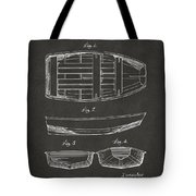 1938 Rowboat Patent Artwork - Gray Tote Bag by Nikki Marie Smith