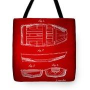 1938 Rowboat Patent Artwork - Red Tote Bag