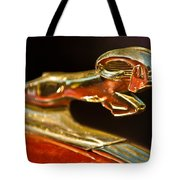 1939 Dodge Business Coupe V8 Hood Ornament Tote Bag by Jill Reger