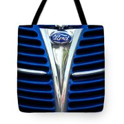 1939 Ford Woody Wagon Grille Emblem Tote Bag