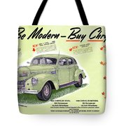 1939 Imperial Vintage Automobile Ad Tote Bag