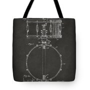 1939 Snare Drum Patent Gray Tote Bag