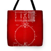 1939 Snare Drum Patent Red Tote Bag