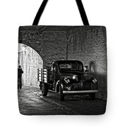 1940 Chevrolet Pickup Truck In Alcatraz Prison Tote Bag by RicardMN Photography