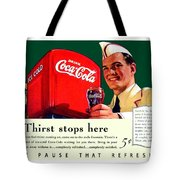 1940 - Coca-cola Advertisement - Color Tote Bag